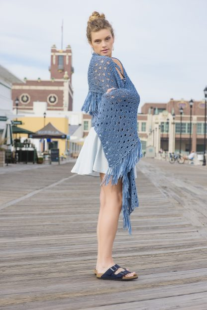 Asbury Park Shawl in SKINNY JEANS - Alternate View