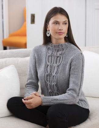 San Remo Cable Mock Turtleneck in EDEN