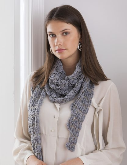 Chatsworth Lace Shawl in LUCCICA & CRYSTAL