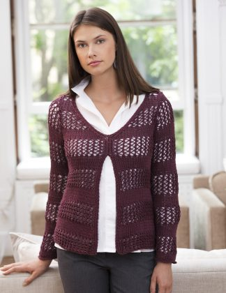 Cornwall Split-Front Pullover in PATTI