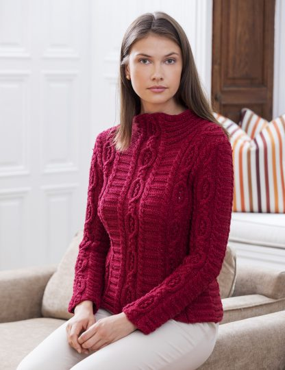 Cloisters Cabled Mock Turtleneck in LUCCICA