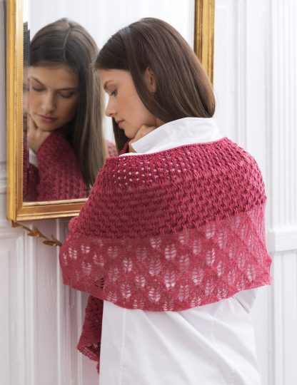 Claremont Lace Shawl in IMPERIAL & JULIE