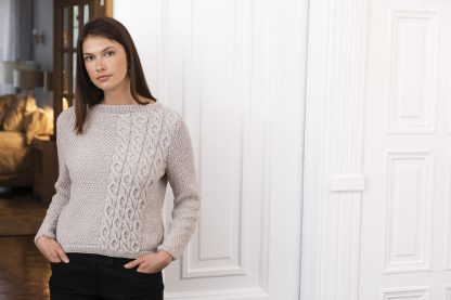 Beacon Moss & Cable Pullover in NORDICA