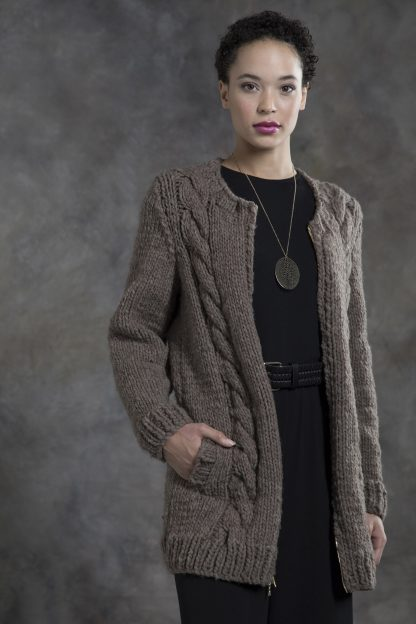 Hickory Zipped Cabled Coat in MONTANA