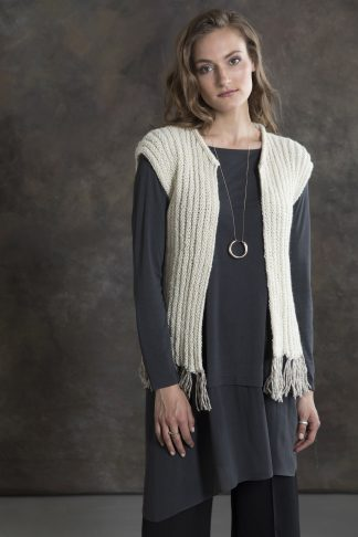 Cottonwood Fringed Vest in VERMONT