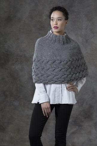 Grey Birch Capelet in ARCTIC