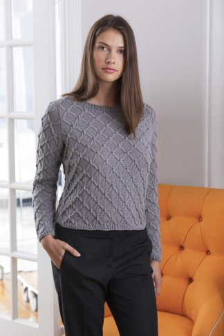 Doulton Diamond Cable Pullover in JULIE