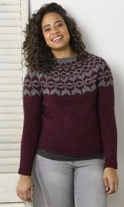 Lavina Pullover in DONEGAL TWEED