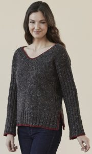 Bayfield Pullover in DONEGAL TWEED