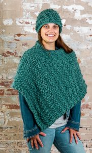 Pine Creek Hat & Poncho in HIGHLAND ROVING
